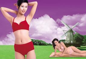 性感內衣廣告海報素材