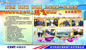 中国北车广告展板设计