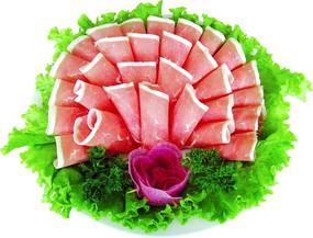 火锅肉片图片素材