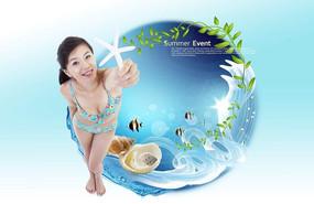 夏季女性內衣廣告設計