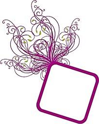 花朵花藤边框素材