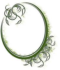 绿色椭圆边框