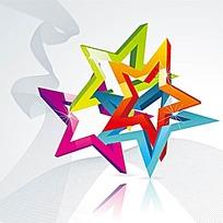 五角星边框背景素材