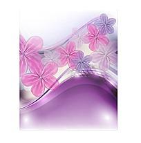 梦幻紫色花朵炫彩矢量素材
