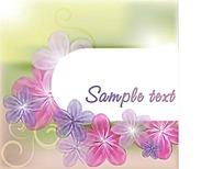 温馨紫色花朵背景素材