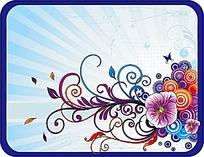 漂亮彩色花紋背景矢量