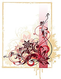 雅致古典花紋背景矢量