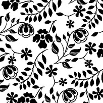 简约黑白花纹矢量素材