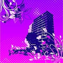 原創高貴紫色背景矢量