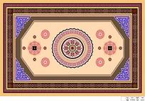 边框复古地毯图案设计