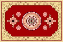 创意复古地毯图案设计