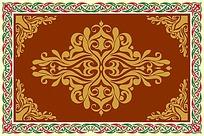 花边复古地毯图案设计