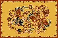 花纹复古地毯图案设计