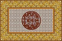 镂空复古地毯图案设计