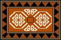 民族风复古地毯图案设计