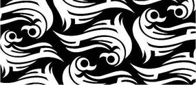 鸟类剪影黑白矢量图