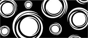 圓形黑白矢量圖