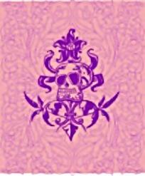 粉色骷髅头抽象矢量图案素材
