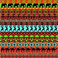 复古非洲小人花边矢量素材
