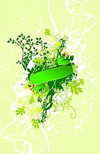 绿色花藤背景设计
