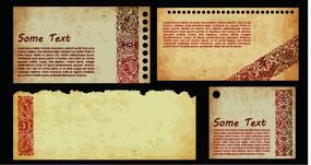 复古纸张背景矢量素材