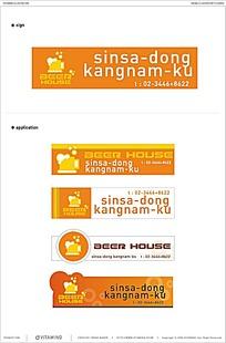韩国风格餐饮行业矢量VI素材