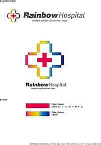 彩色医护标志设计