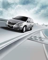 商务汽车广告设计