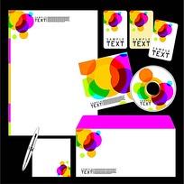 炫彩CD封面信封信纸卡片设计模板