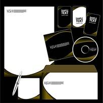 厚实CD封面信封信纸卡片设计模板