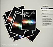创新图文排版网页设计模板矢量AI素材
