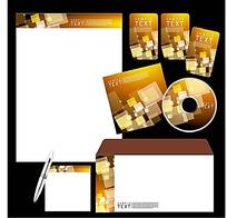 大气方块CD封面信封信纸卡片设计模板