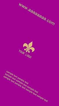 紫红竖版名片背景素材