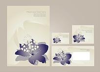 简约时尚花卉模板矢量素材