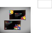 彩色气球名片背景矢量素材