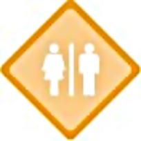 厕所黄色菱形标志图案素材