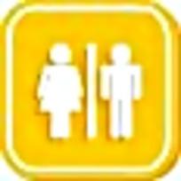 公共厕所黄色标志图案素材
