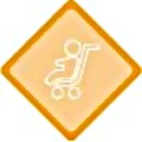 轮椅黄色菱形标志图案素材