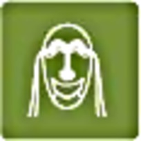 面具绿色图标图案