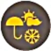 天气预报橙色创意标识素材