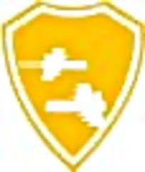 飞行黄色盾牌标志图案素材