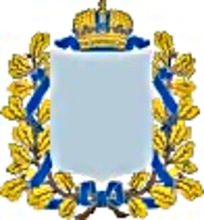 蓝色丝带金色花藤皇冠徽章