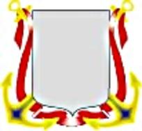 欧式船锚徽章