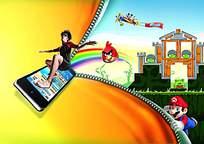 愤怒的小鸟手机app海报