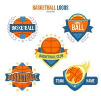 5款彩色篮球标志