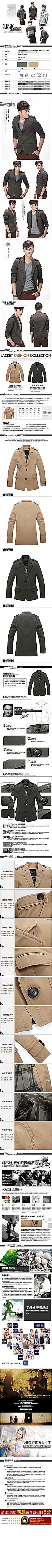 男士休闲夹克商品详情图组