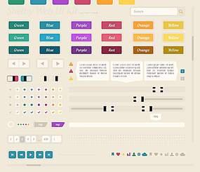 网站元素模板设计