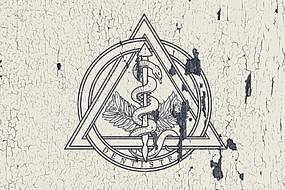 復古手繪墻畫logo樣機