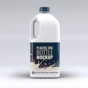 塑料瓶装牛奶样机