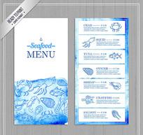海鲜店菜单设计ai